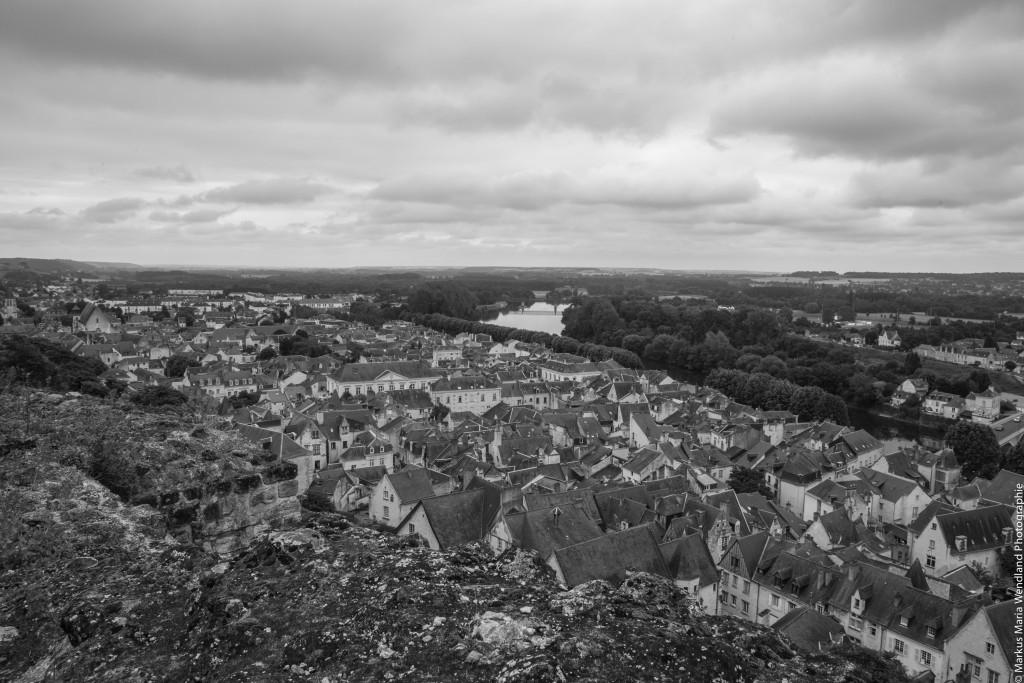 Blick auf das Loire Tal in Chinon