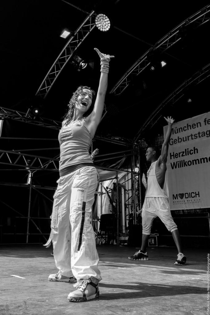 Tanzwerk München auf dem Marienplatz